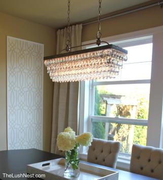 Pottery Barn - Clarissa Glass Drop Rectangular Chandelier