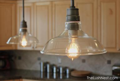 Restoration Hardware - Vintage Barn Glass Pendant Distressed Aluminum ($199 ea)
